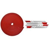 1 pçs pára choques tiras de scooter de proteção para xiaomi mijia m365 tiras de skate elétrico (vermelho) com 1 pçs refletir luz tags pastor|Acessórios de pneus| |  -