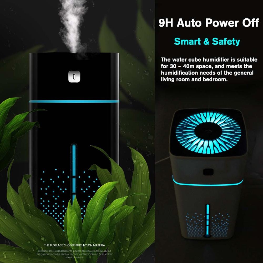 USB Portable 1000ml Air Humidifier Aroma Oil Diffuser Atomizer Ultrasonic Humidificador Aromatherapy Capacity Car Home Christmas