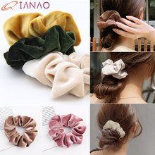 QIANAO 36 Colors Korea Velvet Hair ring Scrunchie Elastic Hair Bands Solid Women Girls Headwear Ponytail Holder Hair Accessories(China)