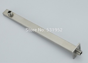 Image 5 - Brushed Nickel Stainless Steel Square Shower Arm Shower Head arm Wall Mounted Ceiling Mounted Shower Head Arm Wholesale