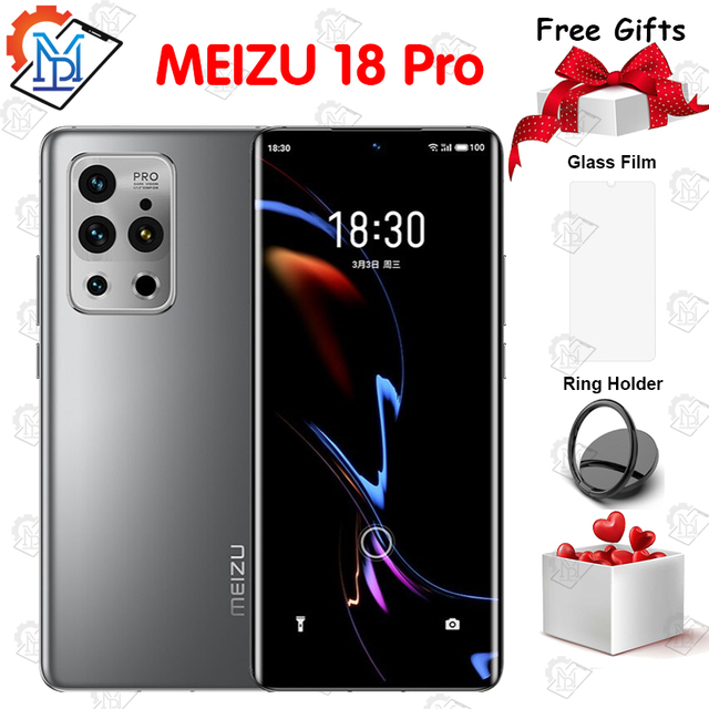 """Original Meizu 18 Pro 5G Mobile Phone 8G+128G 6.7"""" HD Screen Snapdragon 888 Octa Core Android 11 40W Fast Charger NFC Smartphone 1"""