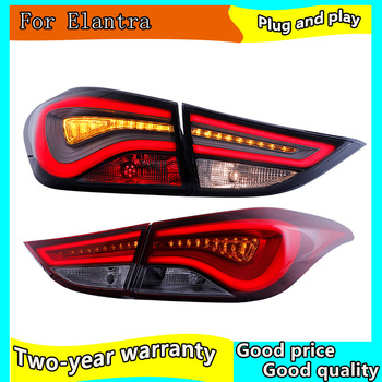 4PCS Car Headlight for Hyundai Elantra Taillights 2011-2016 for Elantra LED Tail Lamp+Turn Signal+Brake+Reverse LED light