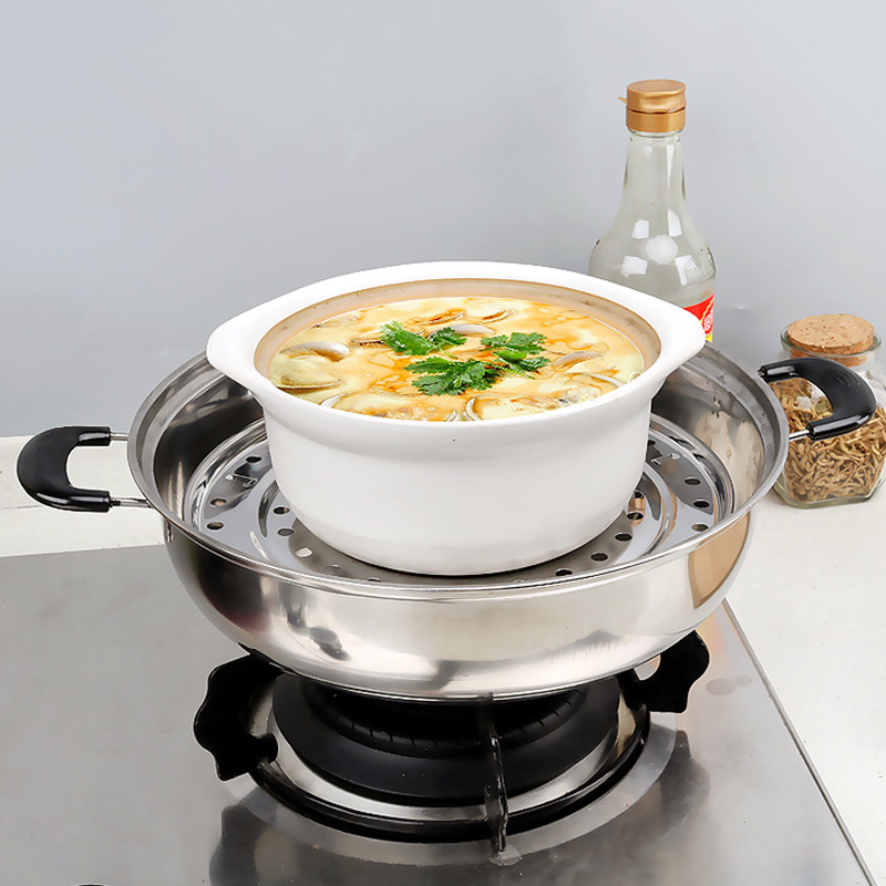 Steamer Shelf Rack Stainless Steel Stand Pot Steaming Tray Cookware Kitchen Accessories TUE88