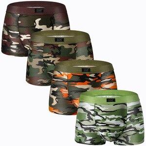 Image 4 - 8 قطعة أزياء الرجال الملابس الداخلية الملاكمين سراويل بوكسر الذكور سراويل تنفس مثير الرجال السروال Cuecas دروبشيبينغ