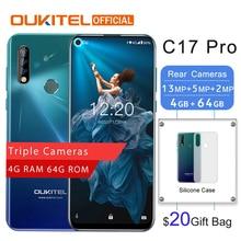"OUKITEL C17 Pro 6,3"" 19,5: 9 Android 9,0 4G ram 64G rom MTK6763 Восьмиядерный мобильный телефон задняя Тройная Камера Двойная 4G LTE смартфон"
