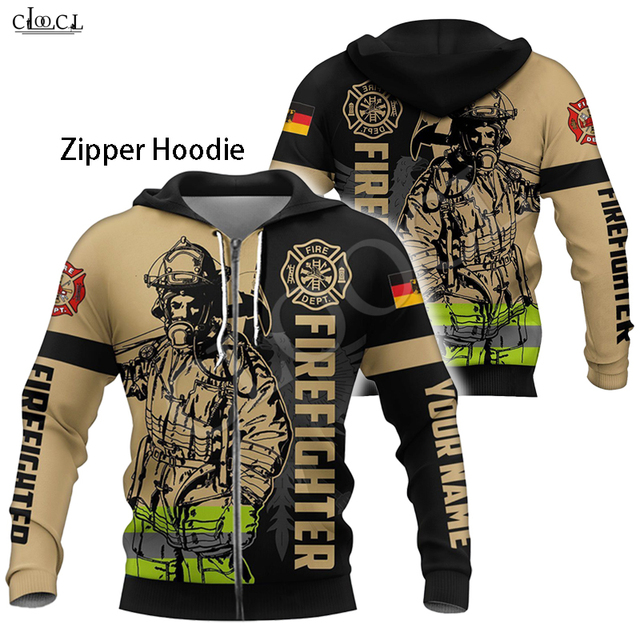 Firefighter Print Hoodie 3D Hooded Sweatshirt 4
