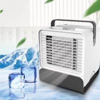 Usb mini condicionador de ar portátil umidificador purificador luz desktop ventilador de refrigeração de ar ventilador refrigerador de ar para o escritório em casa|Vent.| |  -