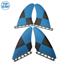 Quad FIN Surfbrett Zukunft Flossen kiel flossen Blau mit Schwarz quillas zukunft Quad FIN Set Verkauf In Surf