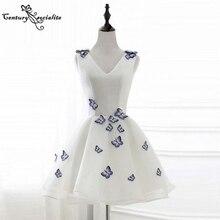 Elegant Homecoming Dresses Short 2021 Butterfly Above Knee Simple Mini Prom Party Gowns Graduation Dress Vestido De Fiesta