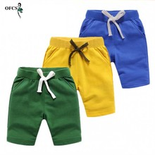 Trousers Beach-Shorts Summer Children Pants Clothing Candy-Color Cotton Fashion Boy Retail