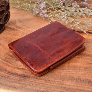 Image 3 - AETOO Handmade Works Of Art Wallet Retro Coin Purse Brush Color 100% Genuine Leather Wallet Men Bag The best gift