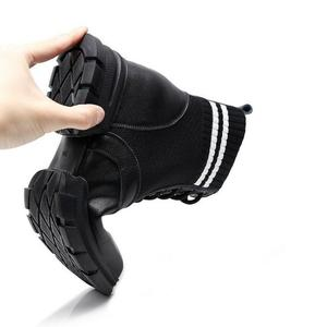 Image 5 - SWYIVY Martin Boots Women Knitting Sock Shoes Sneakers Platform New 2019 Female Casausl Shoes White/black Ankle Boots For Women