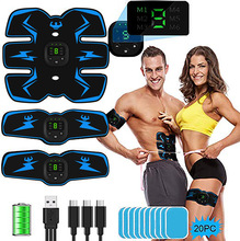 2021 New Abdominal Stimulator EMS Abs Stimulator with 8pcs Gels Pads Fitness Training for Abdomen/Arm/Leg Training Home Office