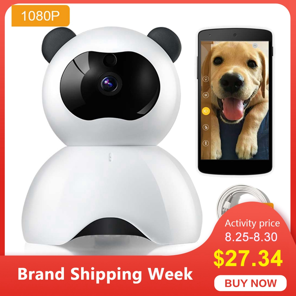 Pet-Camera Motion-Detection Android for Baby Monitor 1080P FHD with iPhone Wifi Night-Vision
