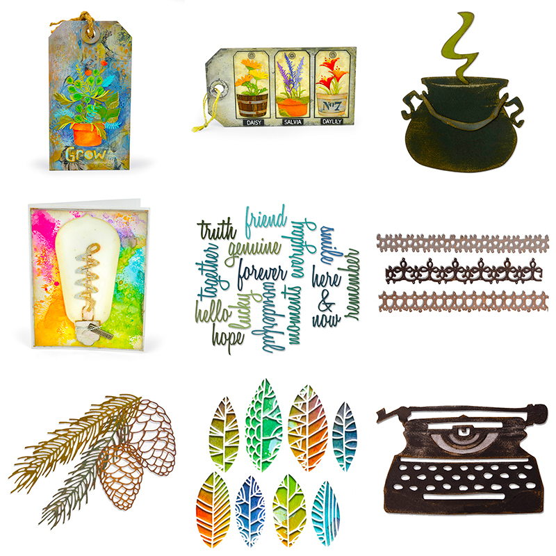 2020 Hot New Christmas Die Cut Scrapbooking Crafts Foil Halloween And Popup Sentiment Word Metal Cutting Dies Card Making Stamps