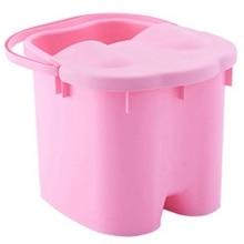 Foot Soaking Bucket Abs Plastic Foot Bath Tub Massage Roller Footbath Barrel With Lid Household Spa Health Care Tool