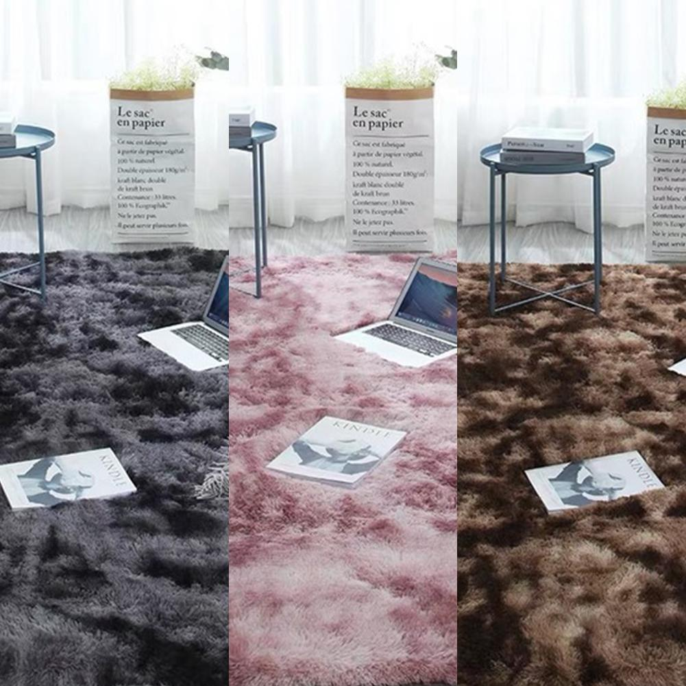 Gradient Rugs Carpet Thicker Bathroom Non-slip Mat Area Rug For Living Room Soft Child Bedroom Mat Home Decor Shaggy Rug Mats