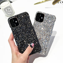 50pcs Glitter Hard Shell Cover For iPhone 11 Pro Case Shining Bling Case For iPhone 11 2019 11 Pro Max Mobile Phone Cases EEMIA(China)