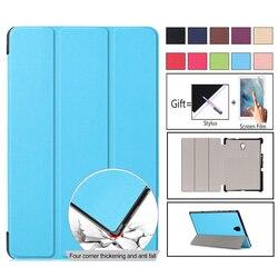 Luksusowe Slim Folio stań etui PU etui na Samsung Galaxy Tab 10.5 cal 2018 T590 SM-T590 SM-T595 SM-T597 Protector skóry Capa