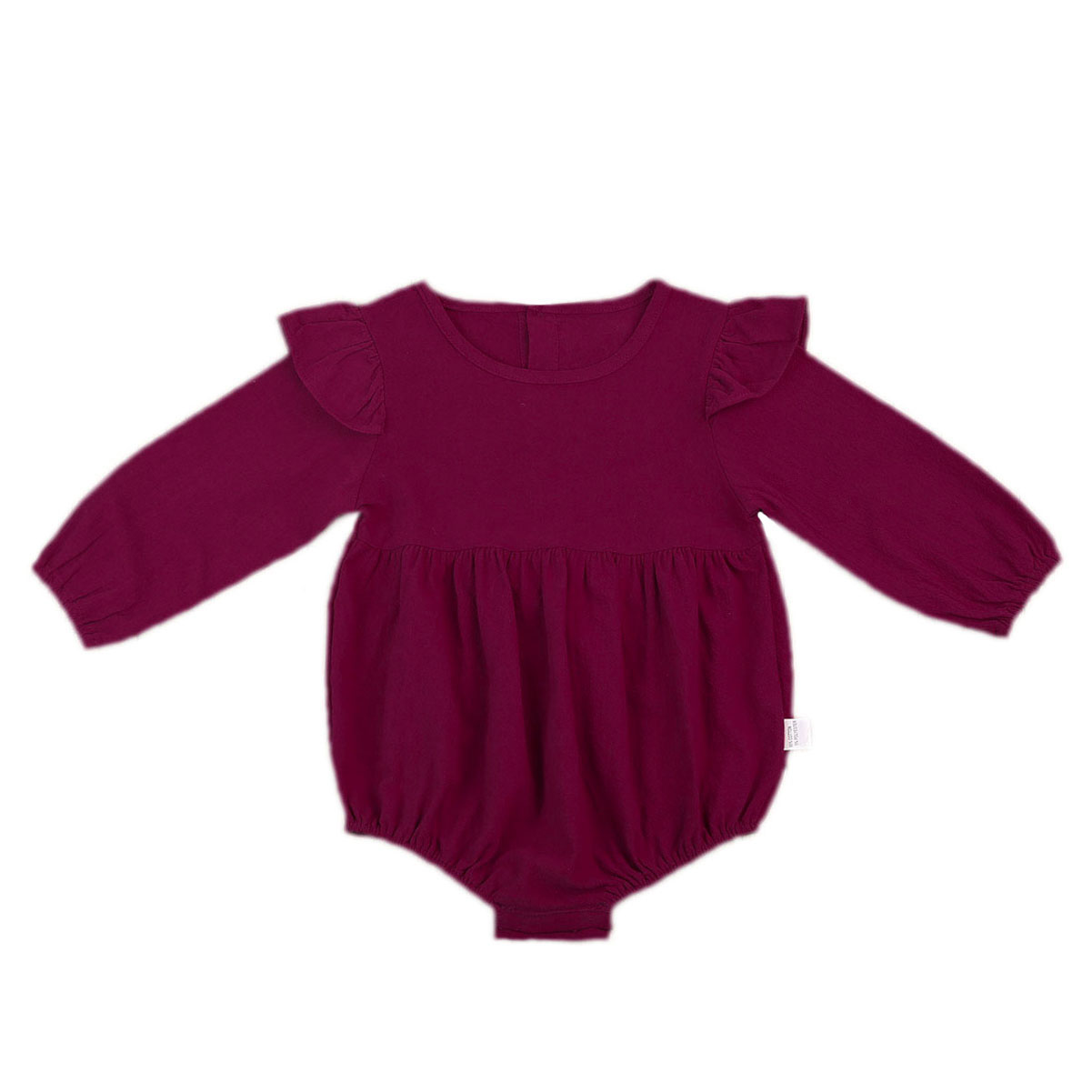Ha7901a27b299499fb7e59fbaba2758b4w Pudcoco Solid Cotton Baby Autumn Rompers Vintage Baby Girl Romper Long Sleeve Baby Clothes 3m - 3Years