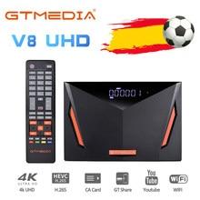 Новинка 2020, спутниковый ресивер GTmedia V8 UHD TV Combo DVB S2 T2 кабель H.265 4K Ultra HD, встроенный Wi-Fi Cline GT Media Freesat ccam