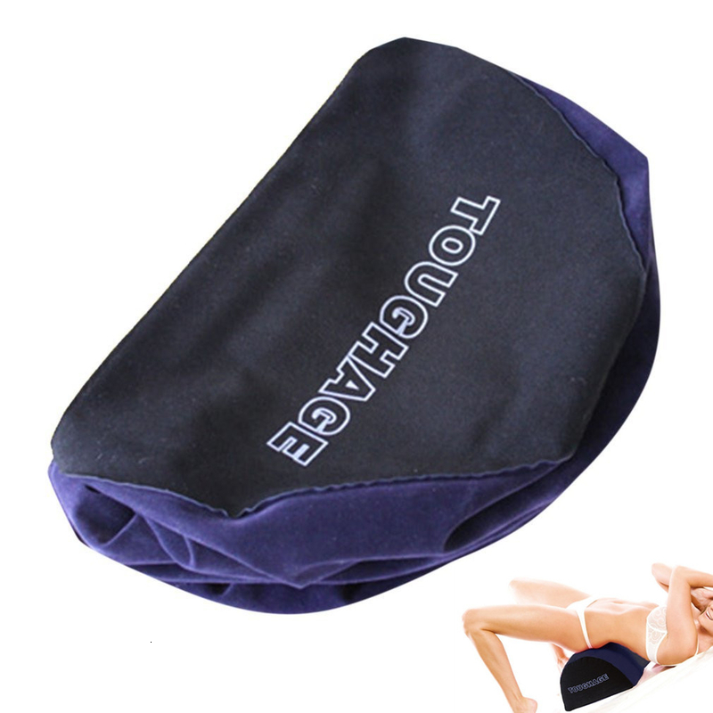 Toughage Inflatable Aid <font><b>Sex</b></font> <font><b>Pillow</b></font> Semicircle Love Position Cushion <font><b>Air</b></font> Blow Body Support Pads Sofa Furniture Adult Men Women image