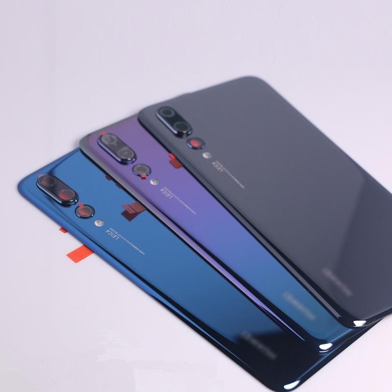 Original P20Pro Housing For Huawei P20 Pro Glass Battery Back Cover Replacement Parts Case + Camera Glass Stick Glue