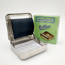 Rollbox Rolling Box Case 70mm Manual Cigarette Maker Metal Semi-automatic
