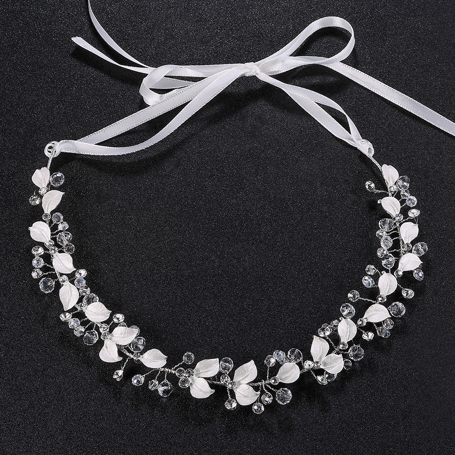 Wedding Bride Headdress Hairband Tiaras Crystal Silver Headbands For Women Hair Headband Ornaments TS128