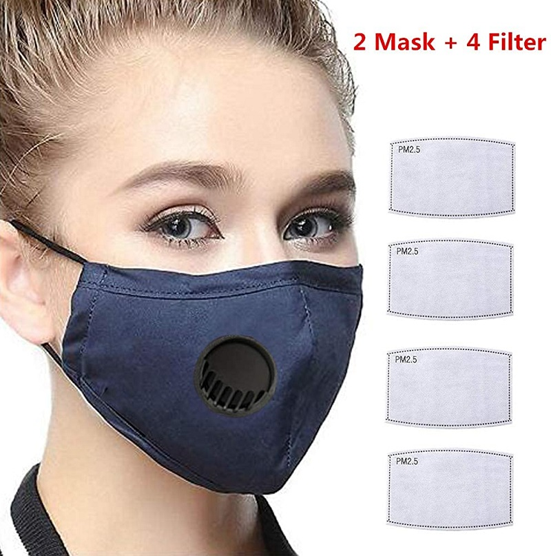 Shipping TO USA  Activated Carbon Filter With Breath Valve,Anti Pollution Reusable For Cycling Running Walking