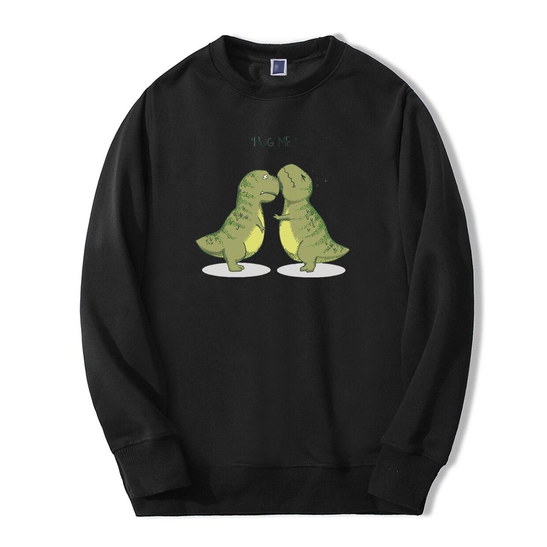 2019 Autumn Winter Hoodies Men Lovely Dinosaurs Hug Me Track Siut Fleece Casual Sweatshirts Fitness Fashion hip hop Sportswear