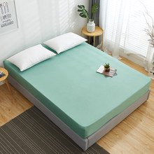 100% bawełniane dopasowane prześcieradło jednokolorowa do łóżka arkusz kolor dookoła elastyczna gumka pokrycie materaca Queen King Sheets 160x200