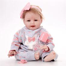 Полноразмерная силиконовая кукла младенец 55 см
