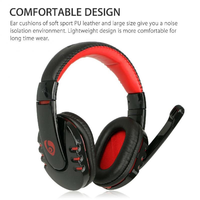 With Microphone Wireless Gaming Headset High sound quality surround stereo headphone Male Female Universal earphone image