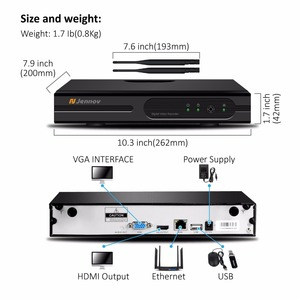 Image 5 - Jennov 4CH 5MP אודיו וידאו מעקב אלחוטי NVR ערכת אבטחת מצלמה מערכת CCTV סט H.264 + WiFi HD חיצוני IP מצלמה IP66