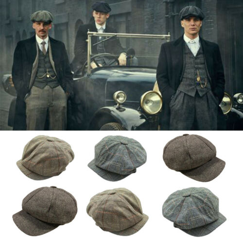 New Fashion Unisex Women Men's Herringbone Newsboy Cap Cabbie Unisex Peaky Blinders Baker Women Cap Hat Men Winter Hat