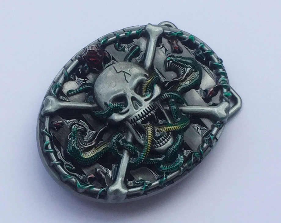 Металлические пряжки для мужского ремня Череп и крест мужские дизайнерские Серебрянные пряжки для ремней