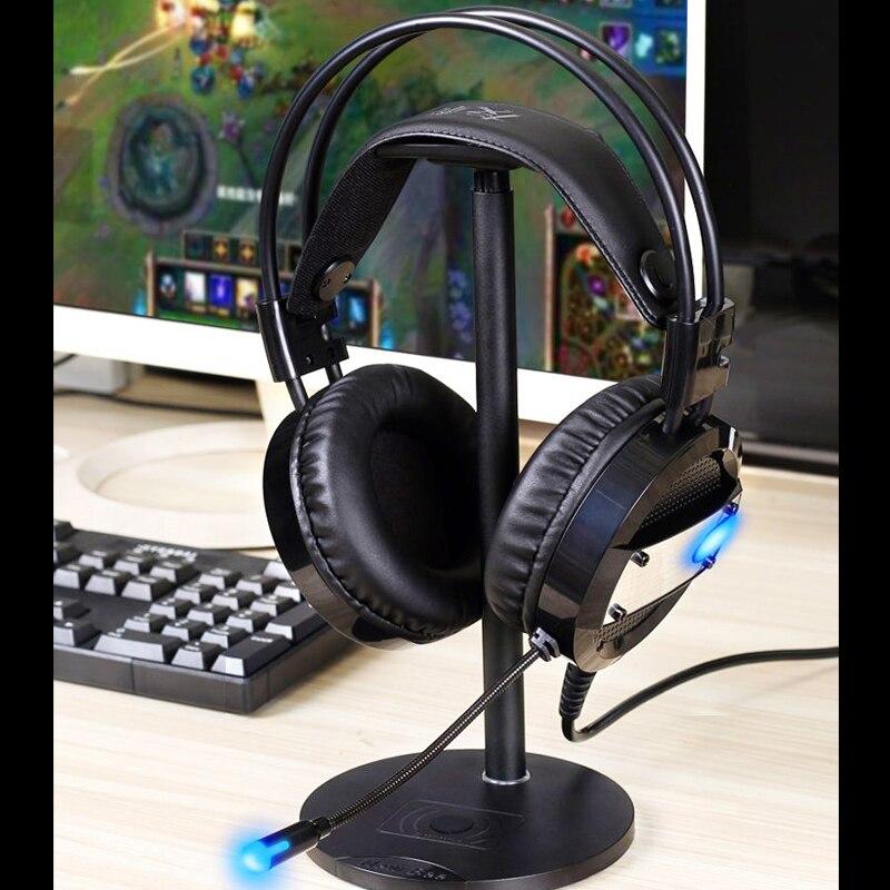 Nieuwe Wired Gaming Headset Diepe Bas Spel Oortelefoon Computer Hoofdtelefoon met Microfoon LED Licht Hoofdtelefoon voor PC Laptop Computer - 6