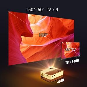 Image 5 - BYINTEK K7 мини 1080P проектор (опционально Android 10 TV Box) Wifi светодиодный портативный видео проектор для смартфона 3D 4K домашний кинотеатр