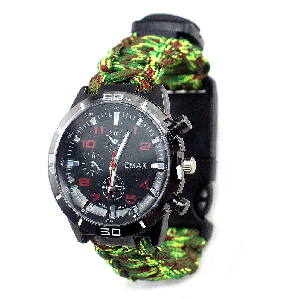 Dongguan Manufacturers Supply AliExpress Wish Sports Watch Outdoor Compass Firestone Survival Watch