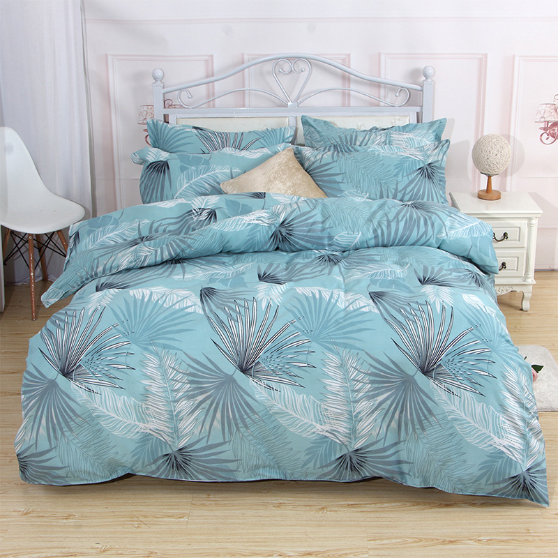 INS Wind Four-piece Set Dormitory Bed Single Person Three-piece Set Twill Printed Bedding Kit Bedding Article A Generation Of Fa