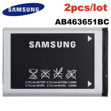 Batterie d'origine pour SAMSUNG GT-S3650 S5550 S5560 S5600 S5620 S7070 S7220 C3530, haute capacité 960mAh, 2 pièces/lot, AB463651BC