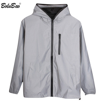 BOLUBAO New Men 3M Reflective Jackets Coats Fashion Brand Men's Luminous Solid Color Hooded Jacket Windproof Thin Jacket Male original new arrival official adidas men s windproof jacket hooded sportswear
