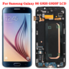 """Original Super AMOLED LCD For Samsung Galaxy S6 Display With Frame 5.1"""" S6 SM-G920F LCD Touch Screen Glass Panel No Defect"""