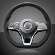 Auto Braid On The Steering Wheel Cover for Nissan X Trail 2017 Car Braiding Steering Wheel Covers