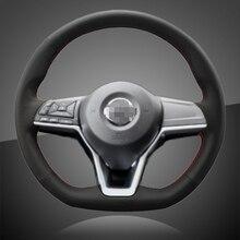 אוטומטי צמת על הגה כיסוי עבור ניסאן X 2017 רכב הגה קולעת מכסה
