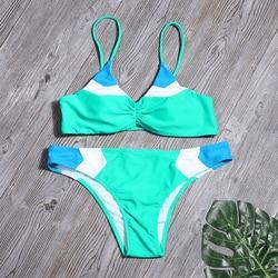 Женский комплект бикини из кусков, сексуальный купальник с принтом, купальник с низкой талией, бикини, купальный костюм, женский летний купа... 4