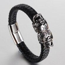 2019 Hot Sale Armbanden Voor Vrouwen Bracelets & Bangles Bangle Stainless Steel Men's Bracelet Ghost Head Retro Skull Headdress