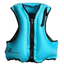 Взрослый надувной плавательный жизнь спасательный жилет куртка подводное плавание плавающий серфинг водная безопасность Спорт спасательные куртки
