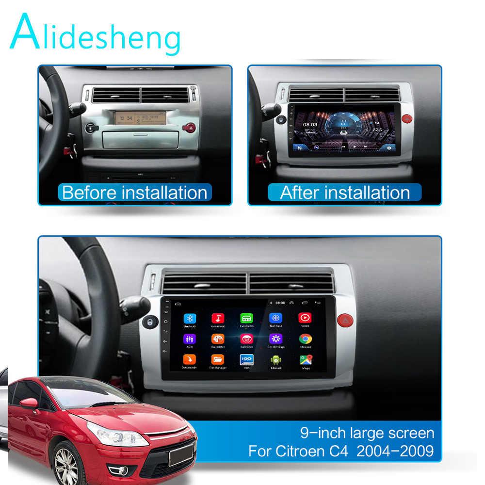 4グラム + 64グラムdsp 2ディンアンドロイド9.0 4グラムネットカーラジオマルチメディアビデオシトロエンc4 c-triompheでc-キャトル2004-2009 wifi carplay
